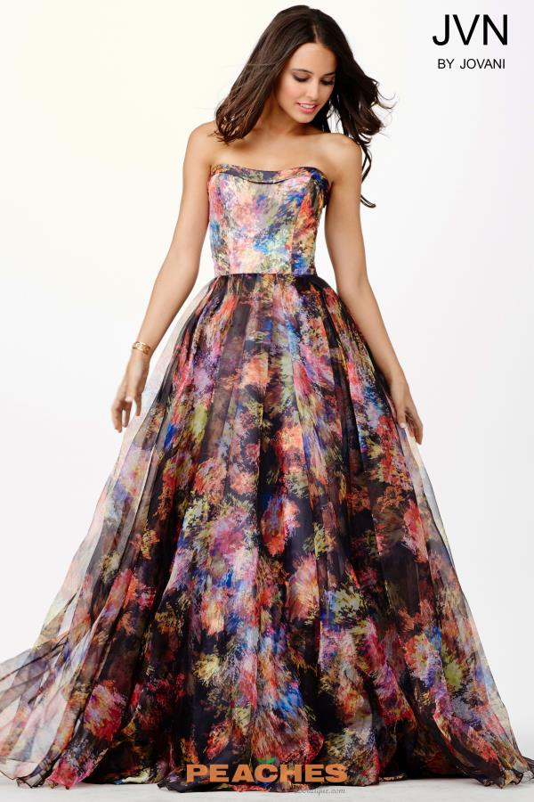 JVN by Jovani Multi Color Print Dress JVN33486
