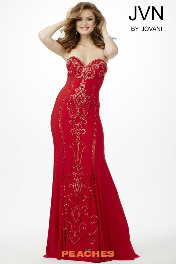 Sweetheart Neckline Beaded JVN by Jovani Dress JVN33745