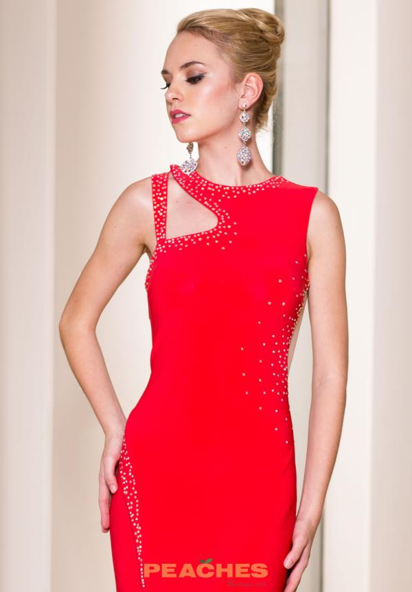 Sean Red Fitted Dress 50847