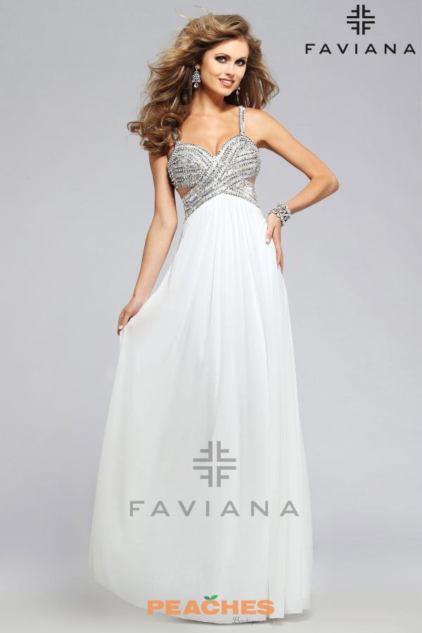 Faviana Beaded Long Dress 7710