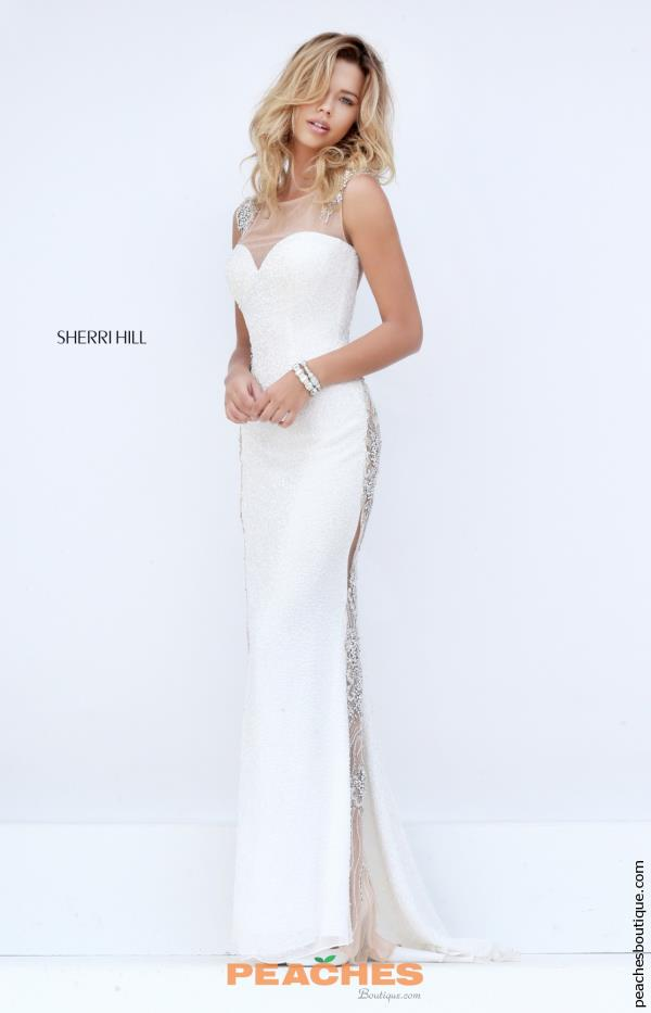 Sherri Hill Fitted Long Ivory Dress 11321