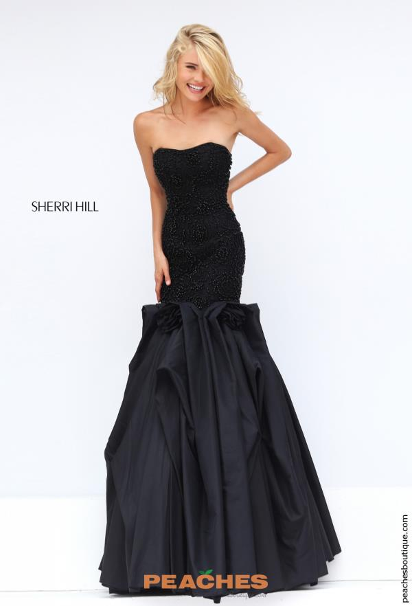Sherri Hill Fitted Navy Pageant Dress 32360