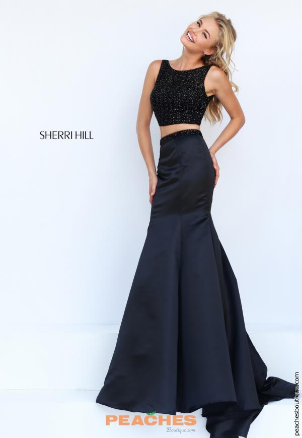 Sherri Hill Black Two Piece Dress 50098