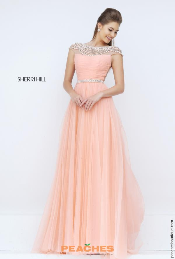 Sherri Hill Cap Sleeved Beaded Dress 50187