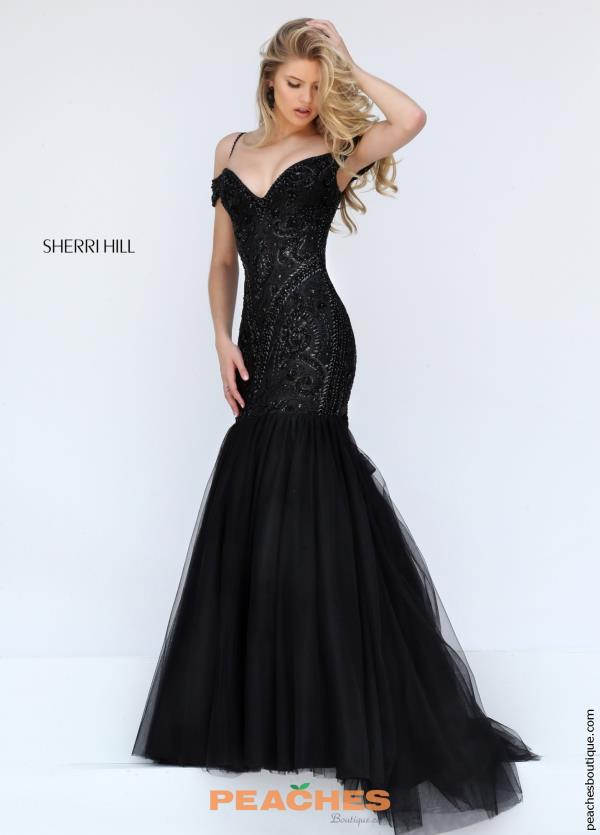 Cap Sleeved Sherri Hill Dress 50212