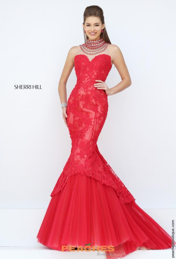 Sherri Hill Beaded Long Mermaid Dress 50356