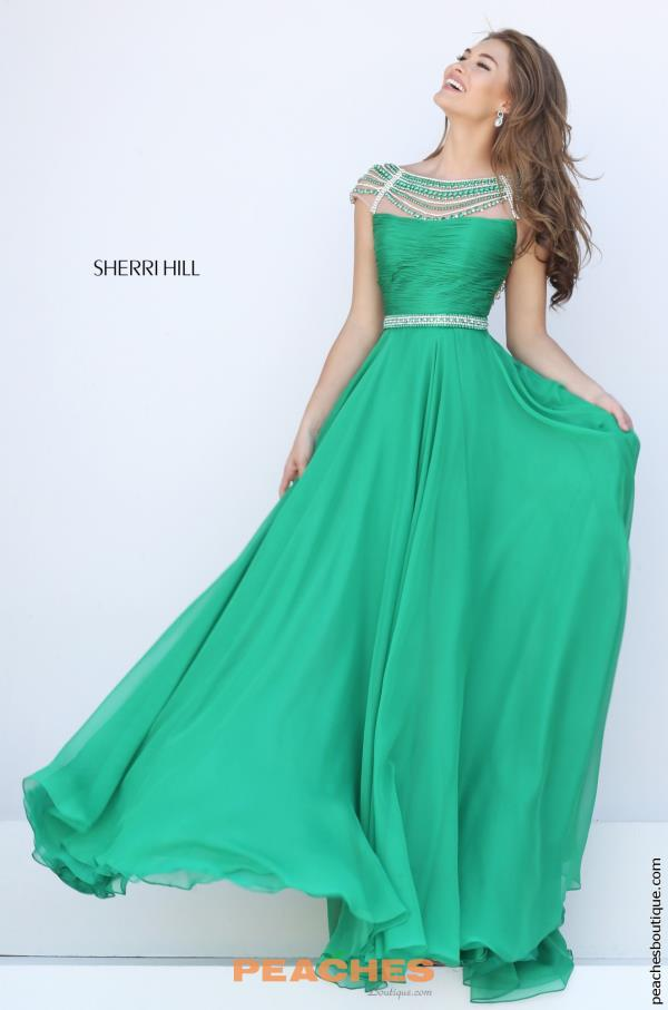 Sherri Hill Cap Sleeved Beaded Dress 50414