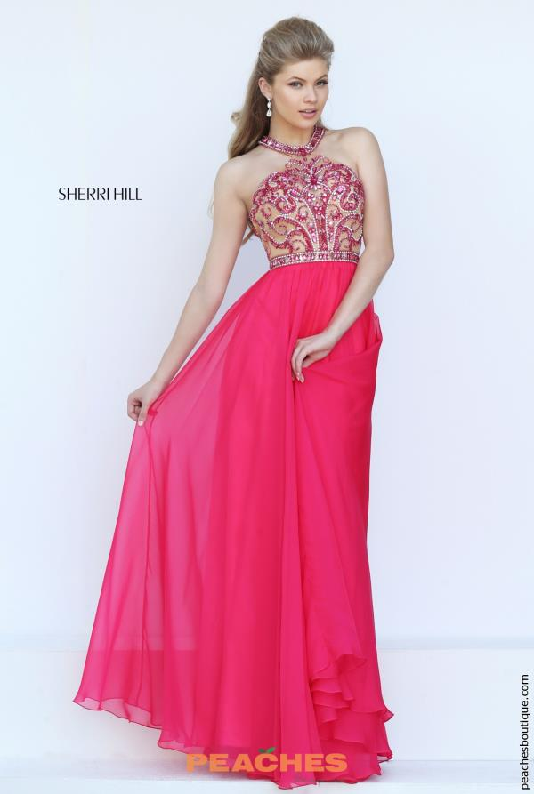 Beaded Halter Top Sherri Hill Dress 50420