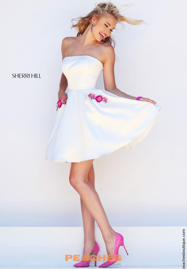A Line Sherri Hill 8th Grade Dance Dress 50220
