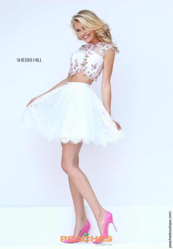 Amazing Two Piece Sherri Hill Short Dress 50478