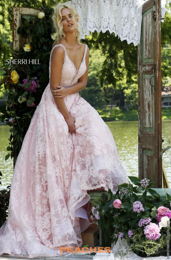 Sherri Hill V- Neckline Long Dress 11314