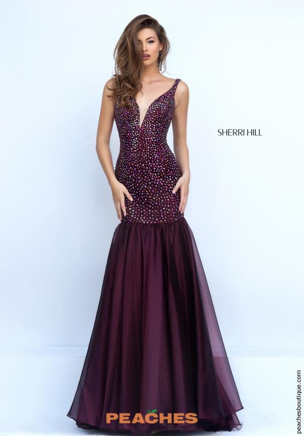 Sherri Hill Beaded Mermaid Dress 11324