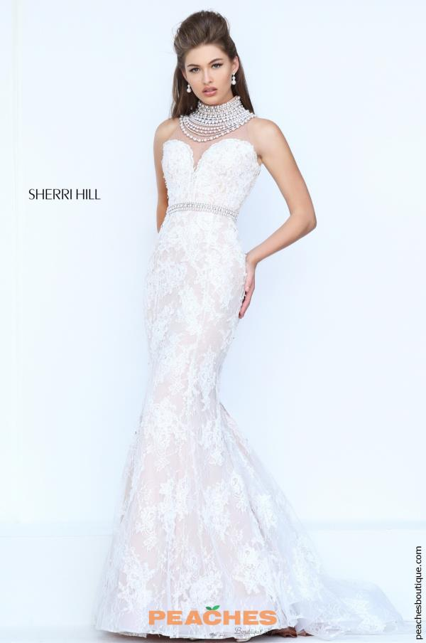 Sherri Hill Lace Fitted Bridal Dress 50083