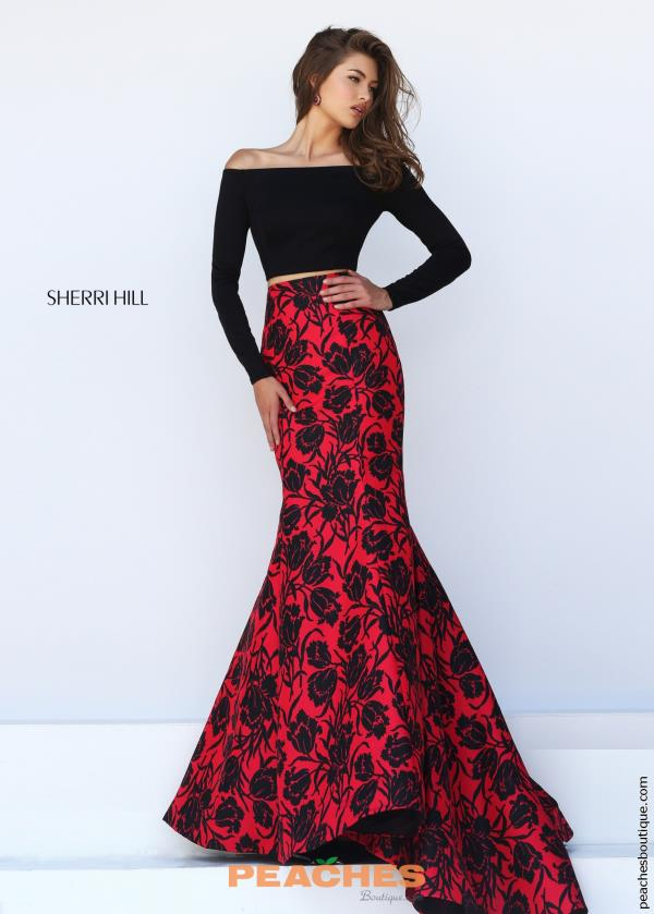 Sleeved Two Piece Sherri Hill Dress 50127