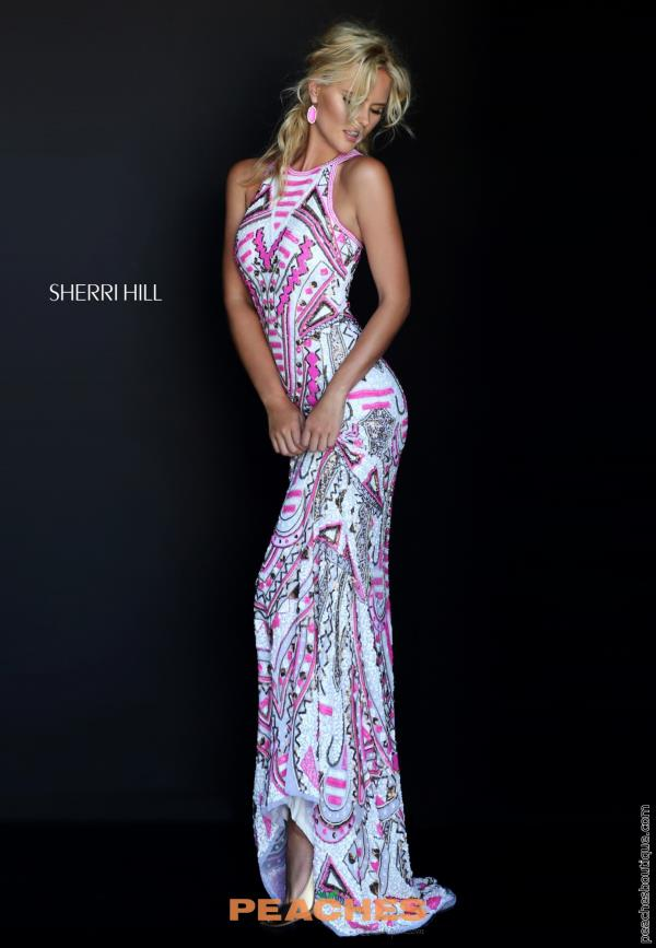 Sherri Hill Long Beaded Dress 50359