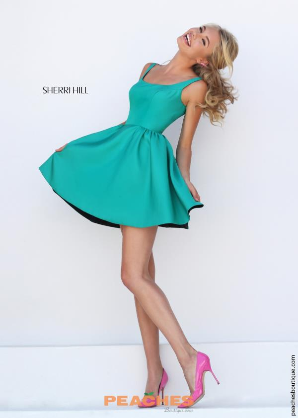 Sherri Hill Short Taffeta A Line Dress 50330