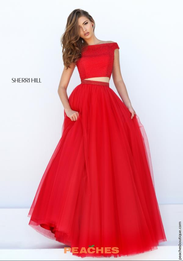 Sherri Hill Tulle Ball Gown Dress 50315