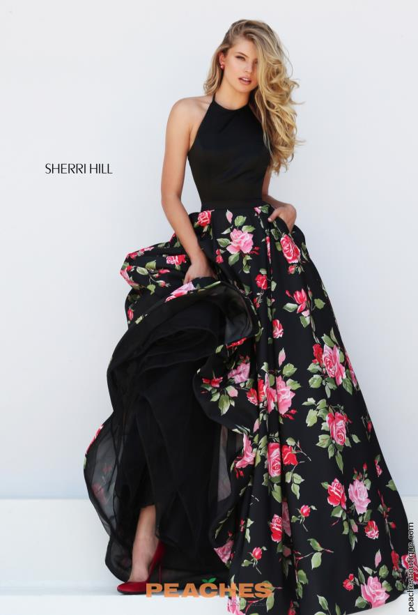 Sherri Hill Long A Line Dress 50333