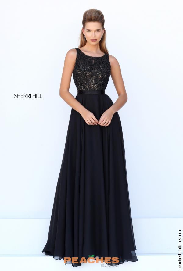 Sherri Hill Long Chiffon Dress 50397