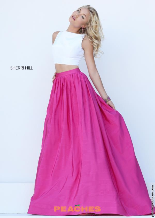 Sherri Hill Two Piece A Line Fuchsia Dress 50459