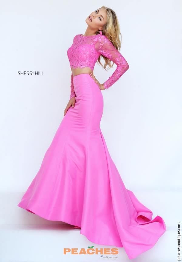 Sherri Hill Long Sleeved Fitted  Dress 50491