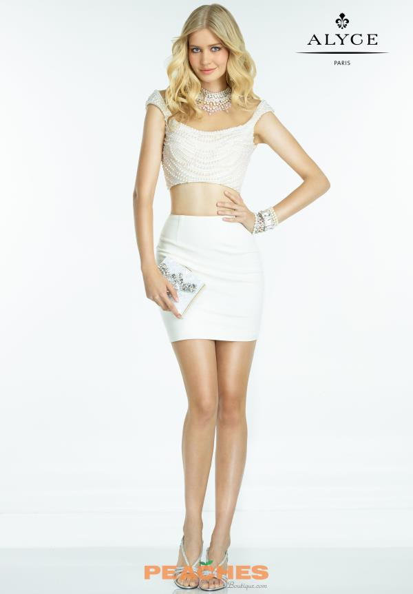 Stunning Two Piece Alyce Short Dress 2516