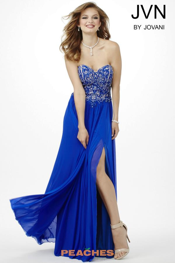 JVN by Jovani Chiffon A Line Dress JVN34750