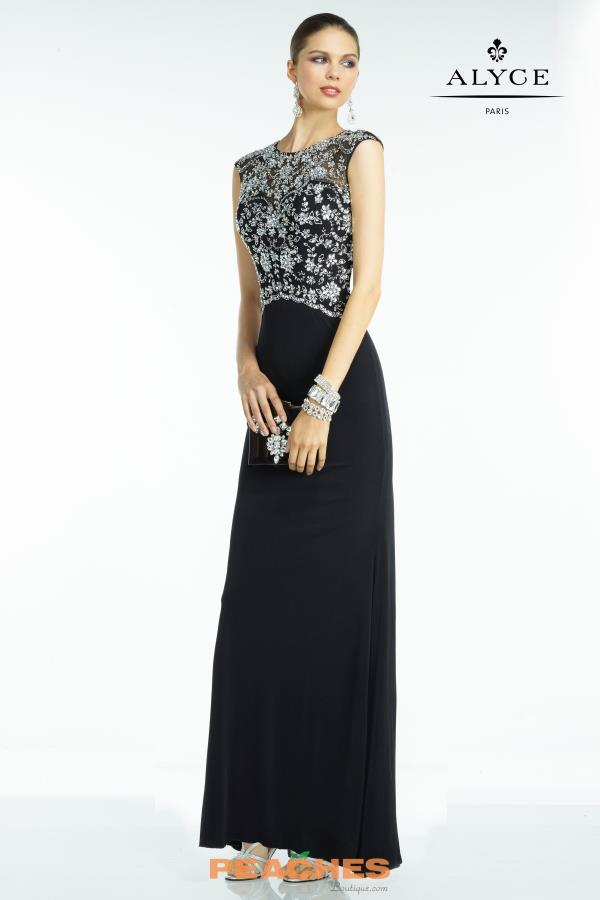 Long Beaded Alyce Paris Dress 5740