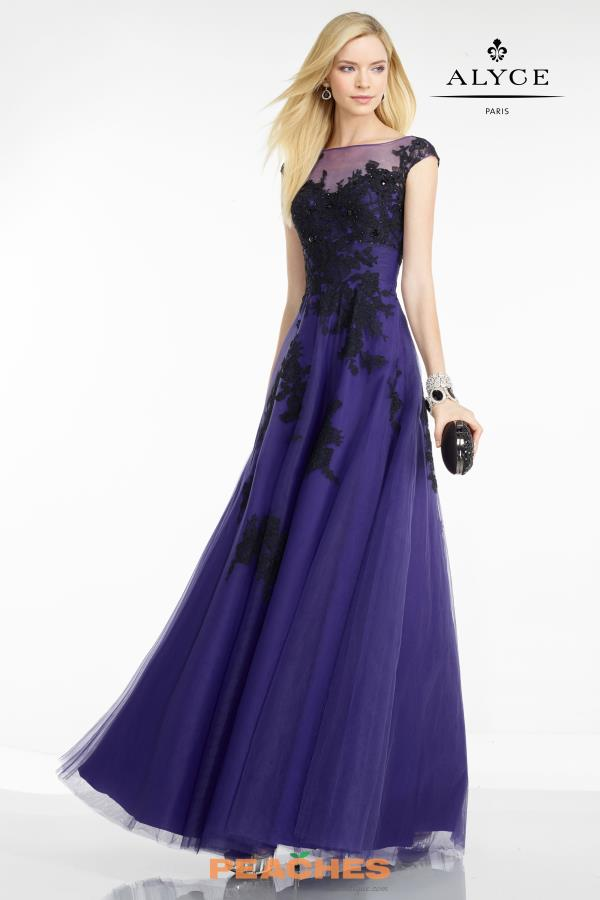 Tulle A Line Alyce Paris Dress 5755
