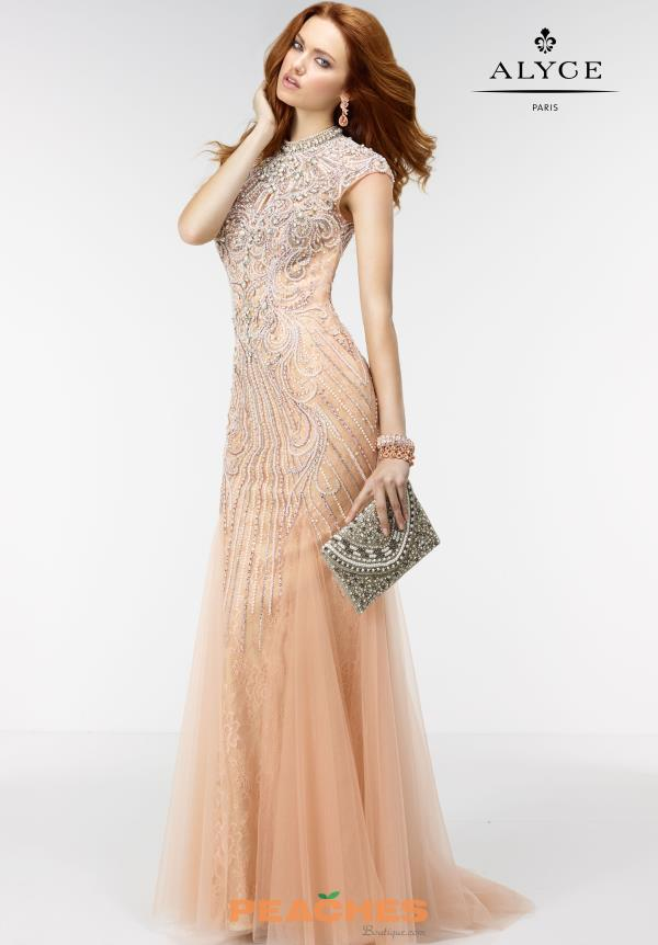 Alyce Paris Long Lace Dress 6503