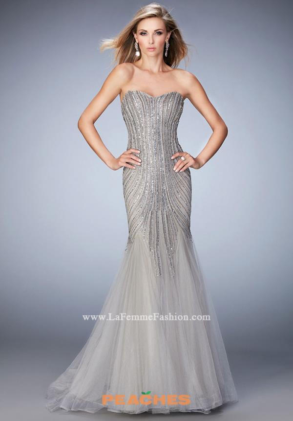 Gigi Sweetheart Silver Beaded Dress 22861