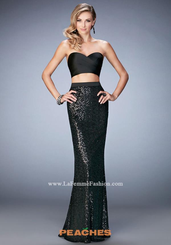 La Femme Two Piece New Year's Eve Dress 22151