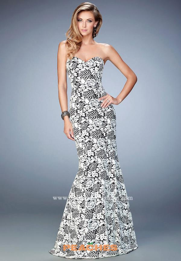 Long Lace La Femme Dress 22219