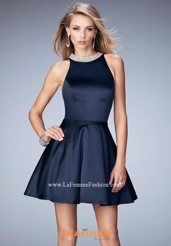 Bat Mitzvah A Line La Femme Short Dress 22212