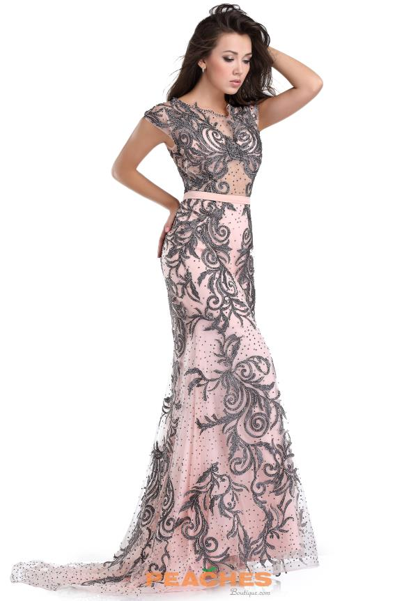 Beaded Long Romance Couture Dress RD1511