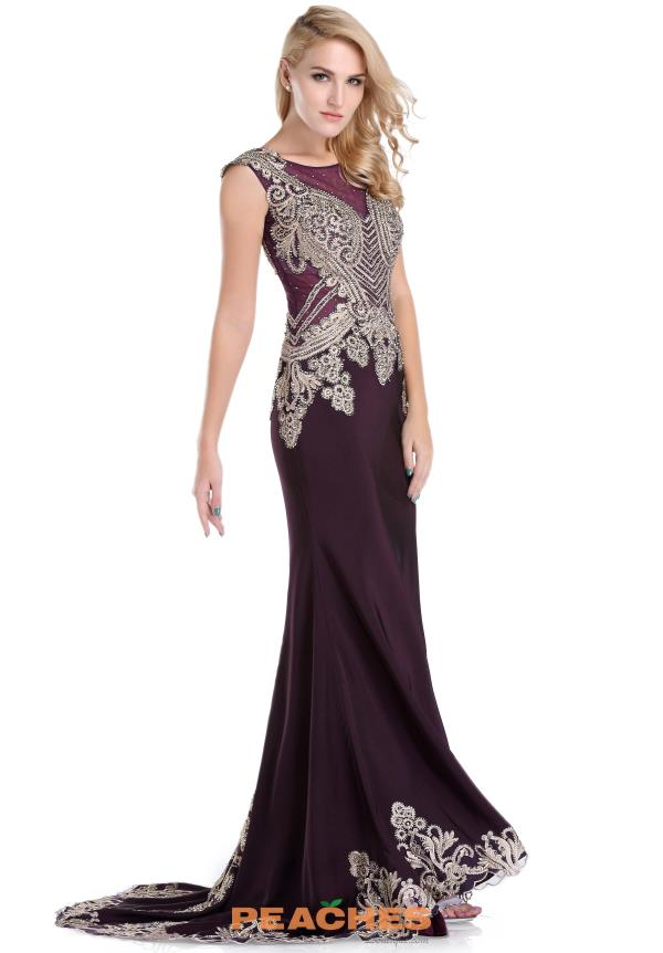 Romance Couture High Neckline Fitted Dress RD1528