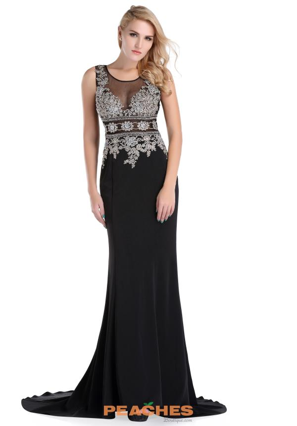 Romance Couture Beaded Long Dress RD1581