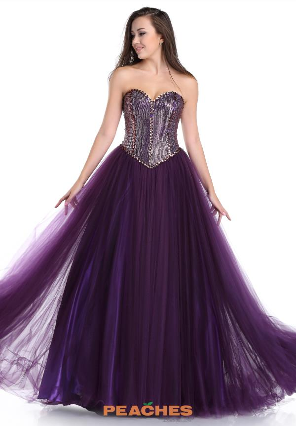 Romance Couture Purple A Line Dress RD1589