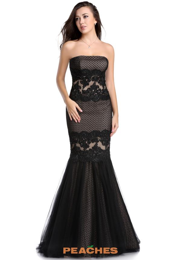 Romance Couture Strapless Fitted Dress RD1592