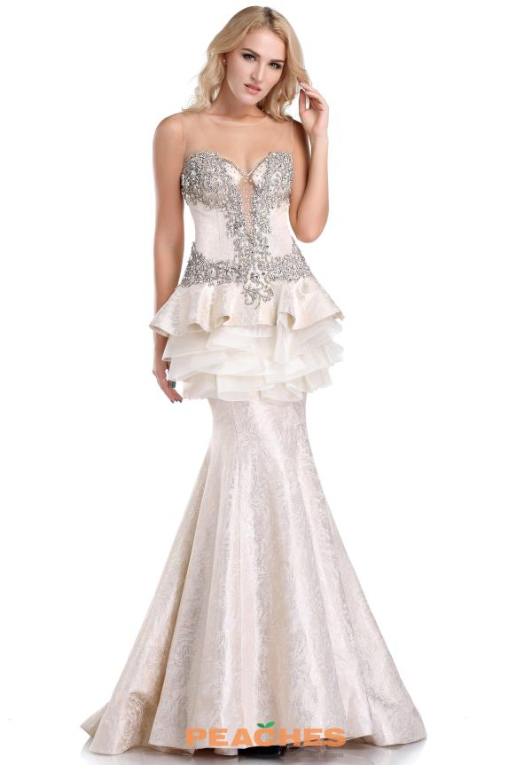 Romance Couture Beaded Long Dress RD1605