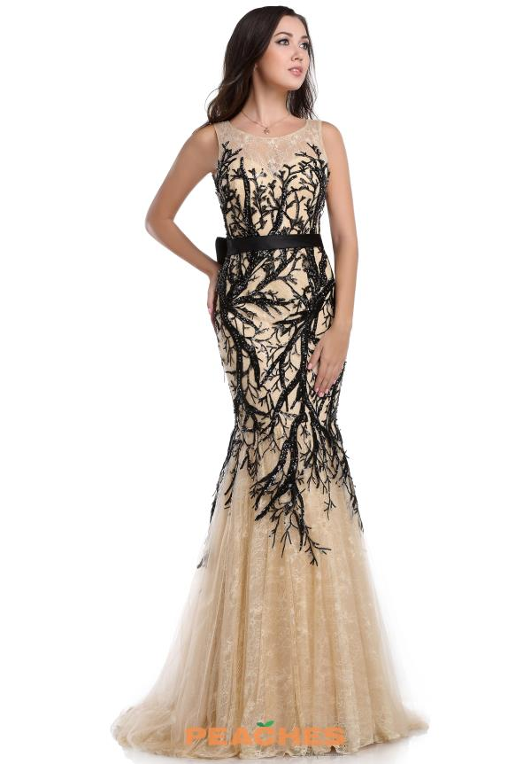 Romance Couture Black Fitted Dress RD1612