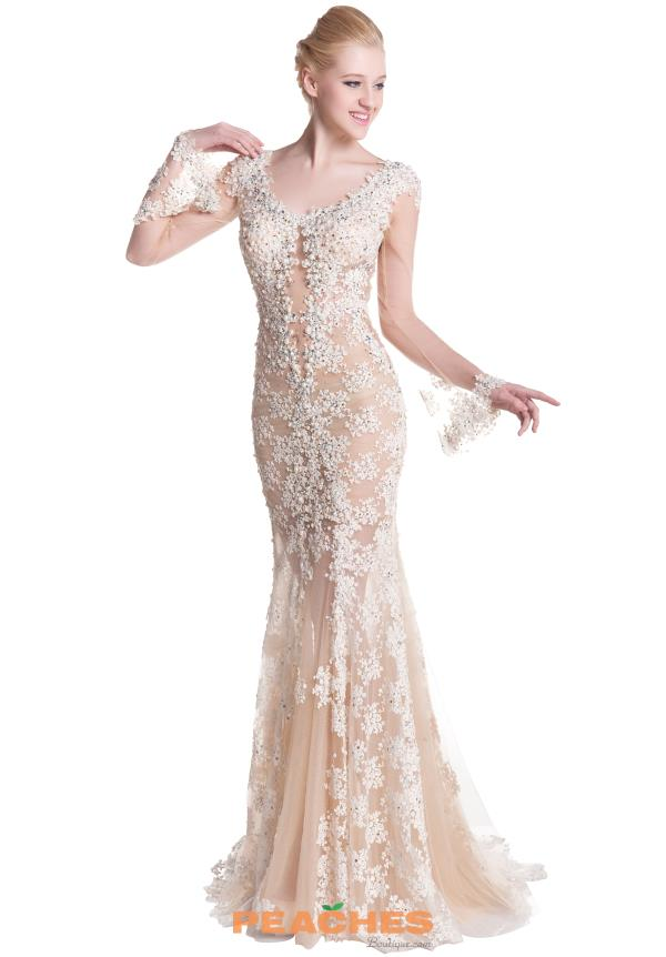 Romance Couture Long Lace Dress RG2421