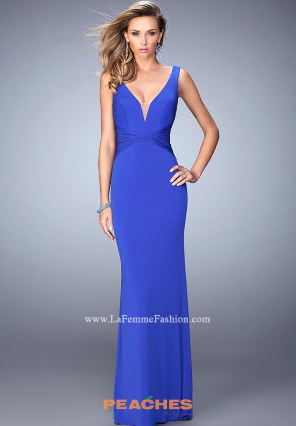 Sexy Open Back La Femme Dress 22060