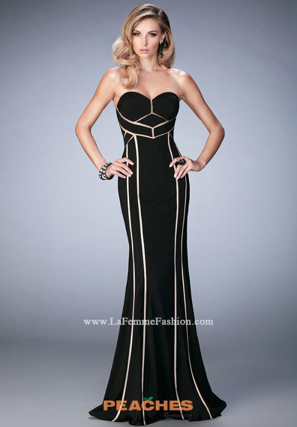 Long Jersey La Femme Dress 22205