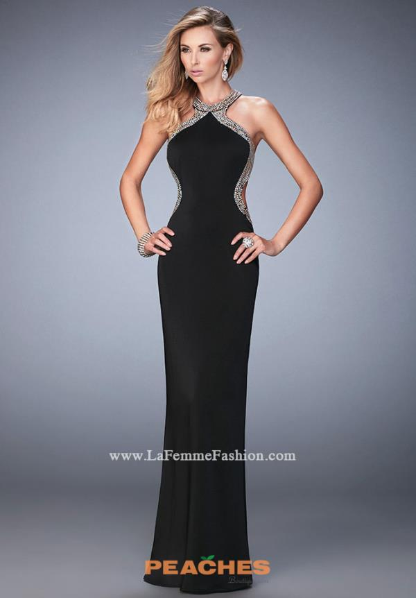 Sexy Open Back La Femme Dress 22225