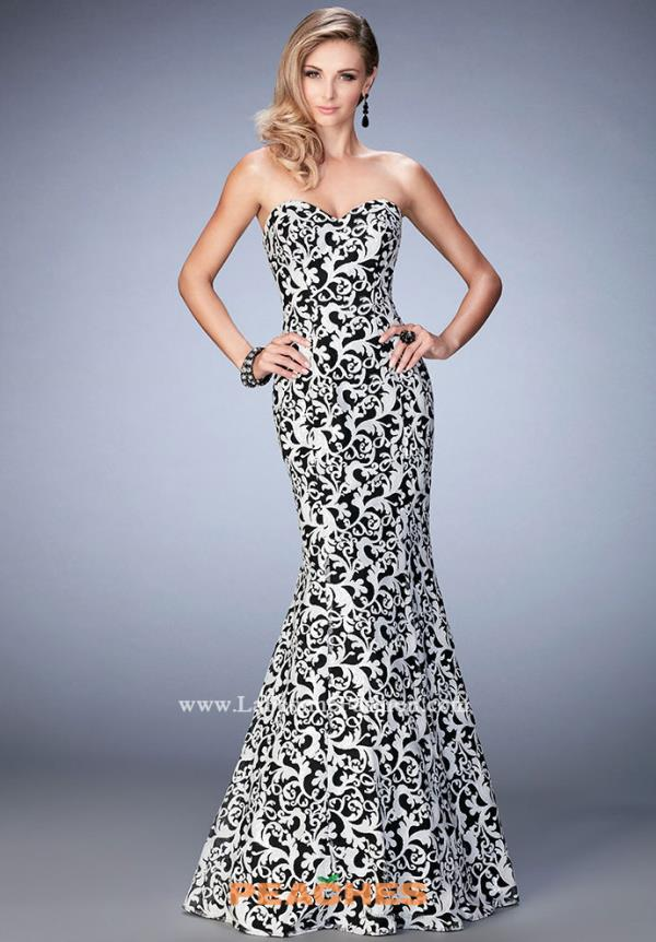 La Femme Lace Mermaid Dress 22313