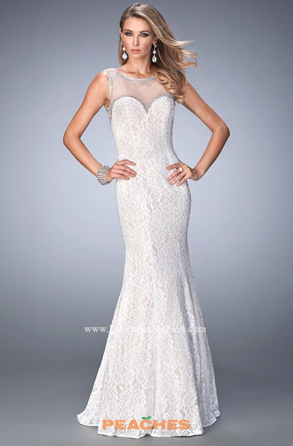 Long Lace La Femme Dress 22314