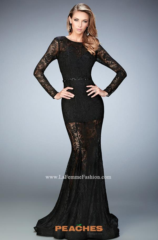Long Lace La Femme Dress 22443