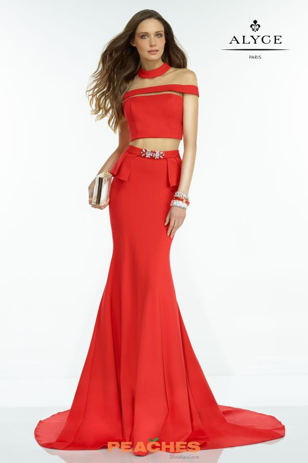 Alyce Paris Two Piece Fitted Dress 2527