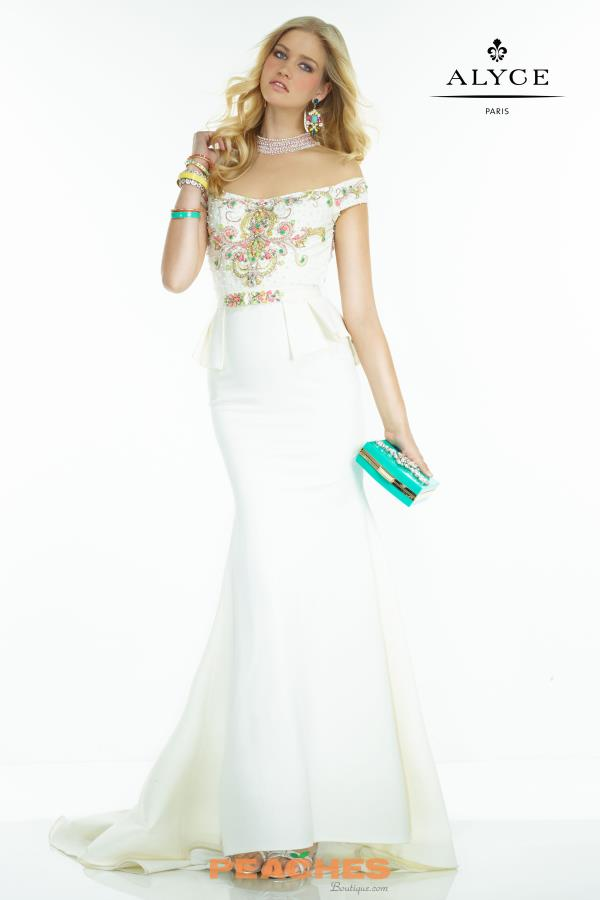Long Fitted Alyce Paris Dress 2563